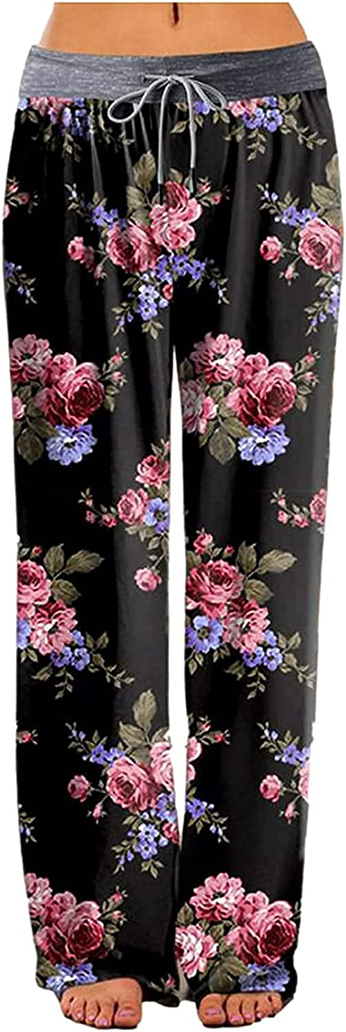 Messigaot Women's Comfy Inexpensive Casual Pajama Print Floral OFFicial store Drawstr Pants