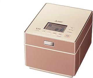 三菱電機 日本製 蒸気レスIH炊飯器 備長炭炭炊釜 5.5合 NJ-XS108J-P