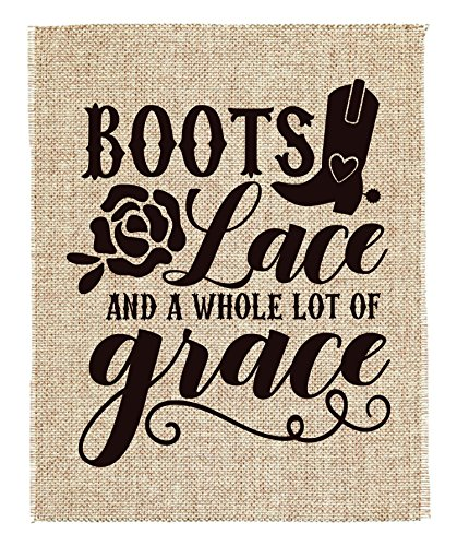 Lace and a lot of Grace Scrapbook Page Kit Boots