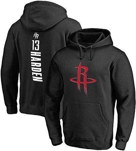 Shelfin Maillot Homme NBA Sweat-Shirt pour Homme Houston Rockets pour Homme Sweat-Shirt De Basket-Ball James Harden pour Le Sport en Vrac (Couleur   noir, Taille   XXXL)
