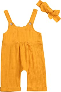 YOUNGER TREE Newborn Infant Toddler Baby Summer One Piece Romper Overall Sleeveless Strap Jumpsuit Halter Harem Pants