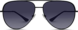 Oversized Flat Lens Fashion Designer Inspired Aviator Sunglasses