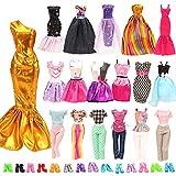 Miunana 20 Kleidung Schuhe für Puppen = 10 modische Partymoden Urlaubstag Kleidung Kleider Outfit + 10 Schuhe für 11,5 Zoll Mädchen Puppen Geschenke -