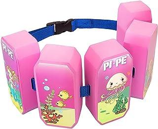 Pi-Pe Cinturón Flotador para niños–Flotador Ideal para Aprender y toben–5Bloques según el Progreso Restos–Bonito diseño para niños y niñas
