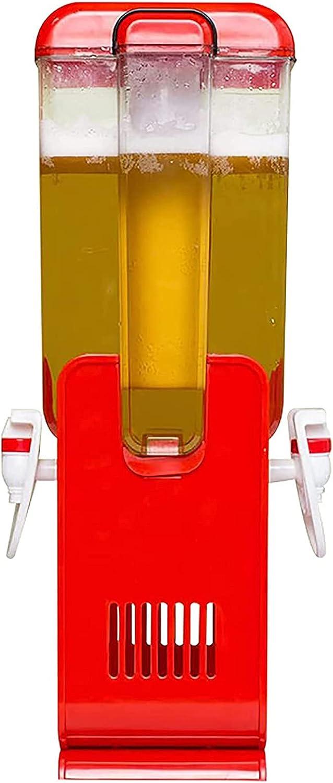Boyuan Dispensador de Torre de Cerveza de 5L, dispensador de Bebidas de Alta Capacidad, Torre de Bebidas, con 2 grifos y Tubo de congelación Brillante, fácil de Limpiar, Fiesta, Restaurante, KTV