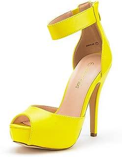 DREAM PAIRS Women's Swan High Heel Platform Dress Pump Shoes