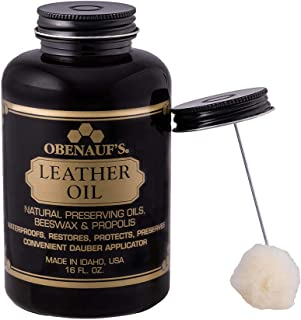 Obenauf's Leather Oil Condition Restore Dry Leather (16oz With Applicator)