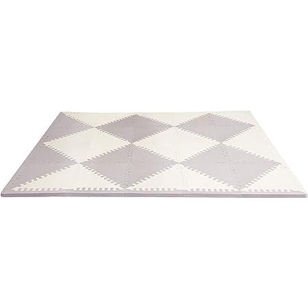 "Skip Hop Baby Play Mat, Interlocking Foam Floor Tiles, 70"" x 56"", Playspot, Grey/Cream"