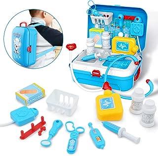 Gizmovine Doctor Kit for Kids, Pretend Medical Set Kids Toy Doctor Medical Playset Equipment 17Pcs Educational Doctor Toys for Toddler Boys Girls
