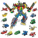 VATOS Set de Bloques de Construcción - 644 PCS Alfabeti Robot Juguetes de Construcción 27-in-1 Building Building Blocks Toy para Niños Niñas Niños 5 6 7 8 9 10 11 12 Nños Regalo