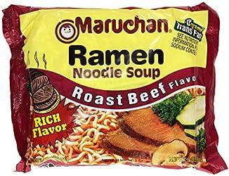 Maruchan Ramen Noodle Soup, Roast Beef, 3 oz