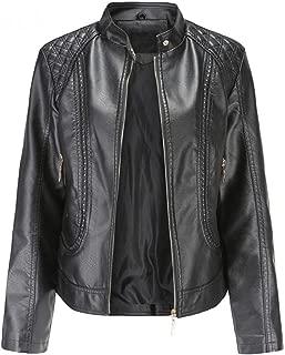 New Womens Black Slimfit Leather Biker Jacket