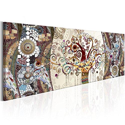 murando Quadro 135x45 cm - 1 pezzo Stampa su tela in TNT XXL Immagini moderni Murale Fotografia Grafica Decorazione da parete Albero Klimt l-A-0006-b-b