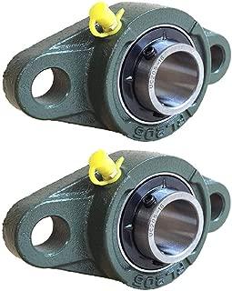 Pillow Block Bearing, Pillow Block Bearing 1 inch Bearing Steel hickened Mounted Self Aligning Rhombic Bearing 25.4mm/30mm(UCFL205-16)
