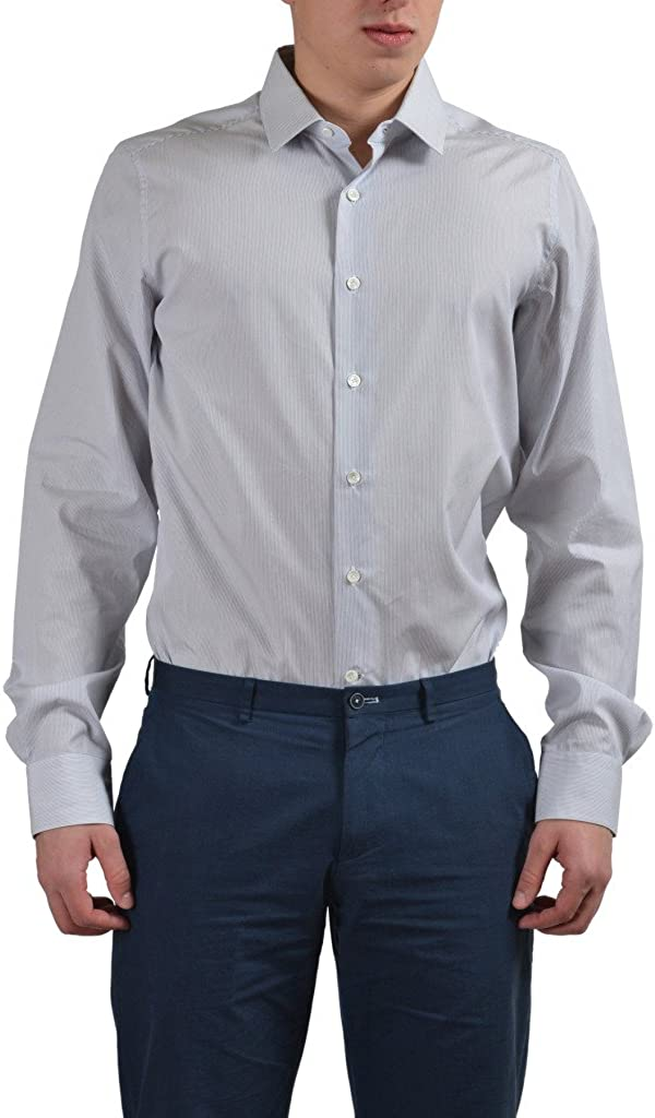 Valentino Men's Multi-Color Striped Dress Shirt