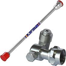 JJDD Airless Spray Gun Tip Extension Paint Sprayer Pole Rod 38cm and Swivel Joint 7/8 Inch Thread