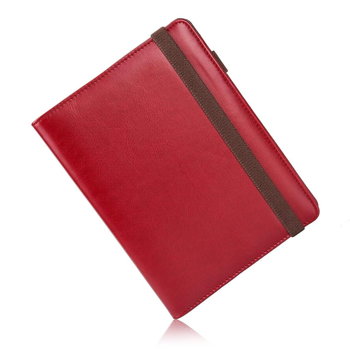 過激派ファイターチャレンジゴムバンド付き システム手帳 6穴 a5 リフィル スケジュール帳 バインダー (レッド)