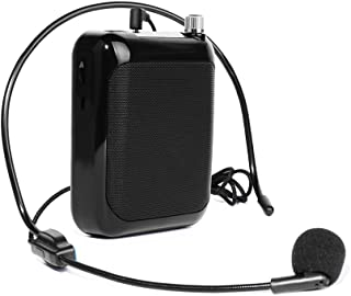 Portable Voice Amplifier MAONO C01 Lightweight Cardioid Rechargeable Wired Microphone with Waistband and LED Display, Support FM/MP3/TF card for Teachers, Tour Guides, Coaches, Training, Promotion