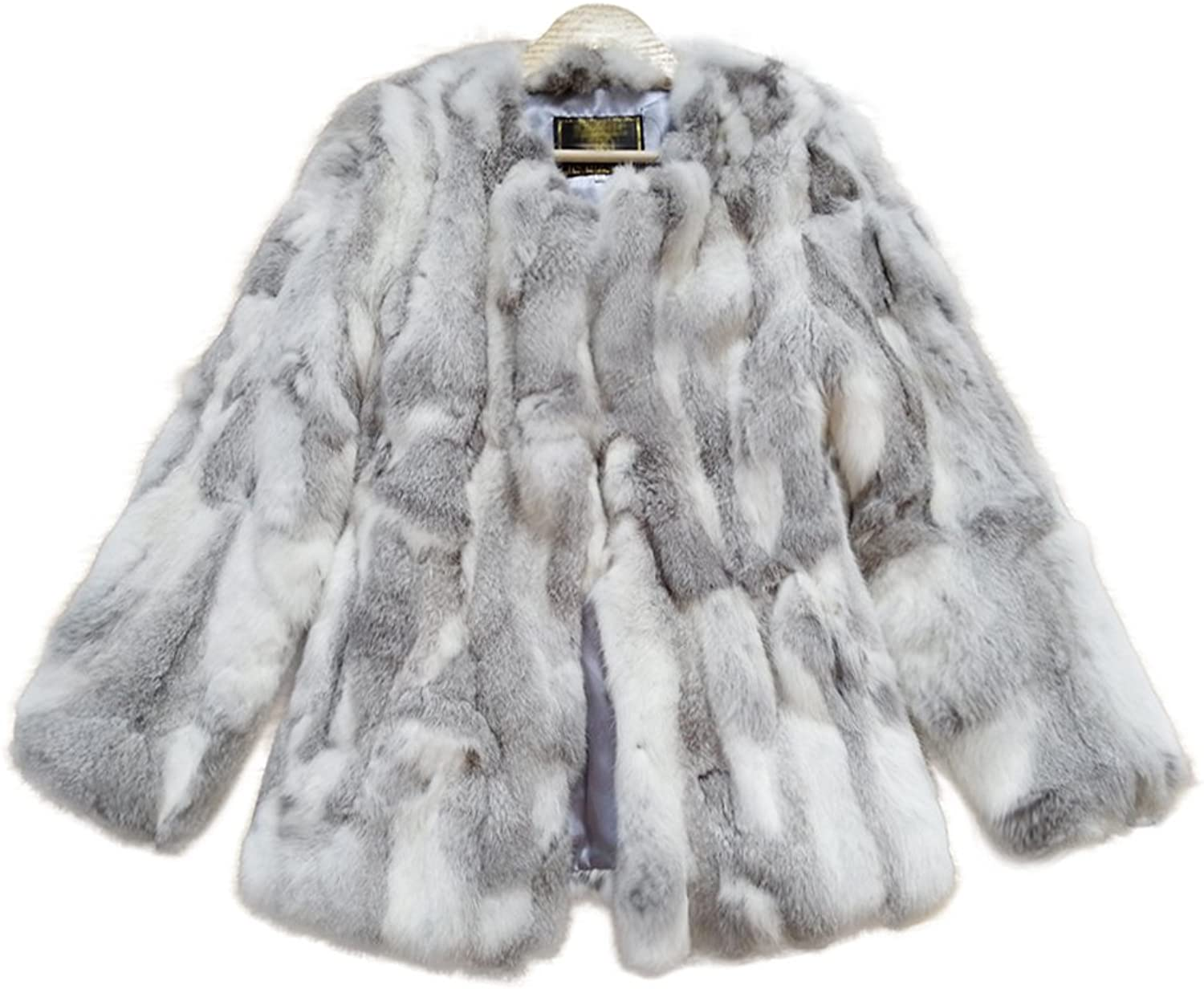 ETHEL ANDERSON Women Fur Coat  Winter Warm Real Rabbit Fur Jacket Outerwear Coat