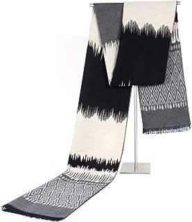 Luxury Scarf Men Autumn Winter Warm Scarf Fashion Design Wavy Lines Man Casual Scarves