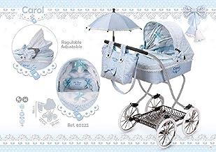 Decuevas Coche Muñeca con Paraguas Carol, color azul (68080222)
