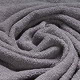 Stoff Baumwolle Frottee grau Frotté zweiseitig