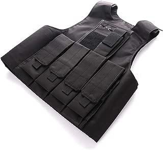 Famyfamy Jedi Survival Anime PVC Vest, Anime Figure Game Tactical Vest Multi-Function Camouflage Combat Vest CS Equipment Eat Chicken Vest All Terrain Camo Combat Vest Suitable for Children Kid