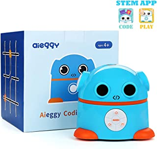 Aieggy Coding Robot for Kids 4+ Educational Toys School Learning Robot Kit STEM Programming Robot Electrical Science Game
