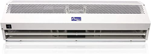 "Awoco 36"" Super Power 2 Speeds 1200CFM Commercial Indoor Air Curtain, UL Certified, 120V Unheated - Door Switch Included"
