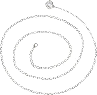Belly Chain Adjustable Waist Jewelry Necklace Silvertone Body Chain Dangle Bead Cage Charm