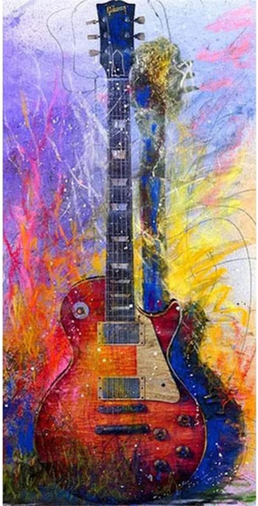 DIY 5D Diamond Painting Kits Large Guitarra 80x160cm square drill DIY Pintura de Diamante Kit Completo Taladro Cristal Rhinestone Diamante Art Bordado Punto de Cruz Art Craft Home Salón Decor de Pared