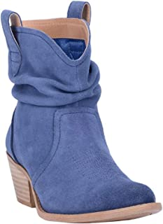 Women's Jackpot Slouch Suede Booties Round Toe