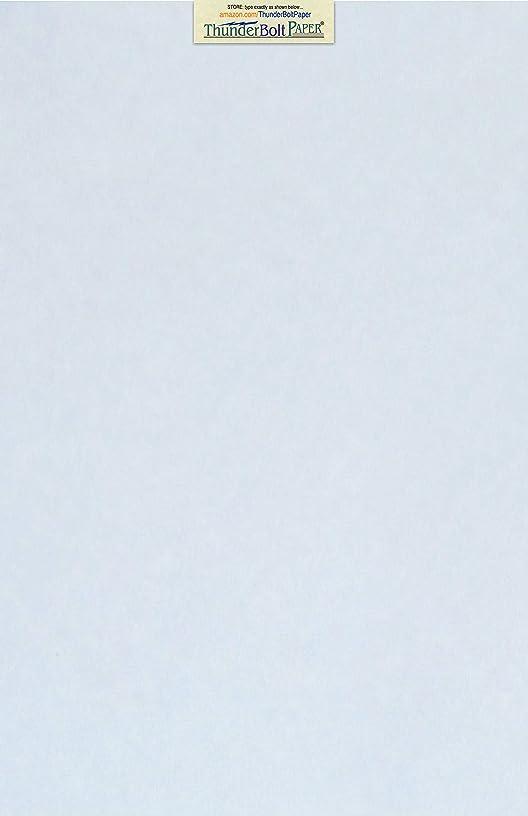 50 Light Blue Parchment 60# Text (=24# Bond) Paper Sheets - 11
