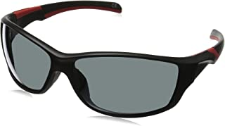 Foster Grant Men's Completion Wrap Sunglasses, Black, 67 mm