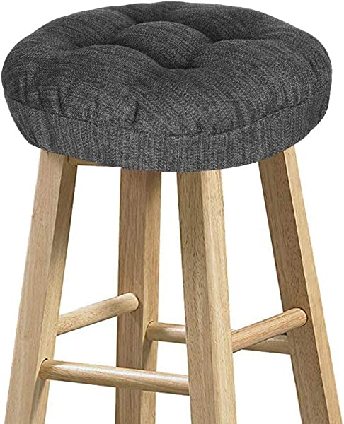 Baibu Stool Covers Round Super Soft Round Bar Stool Cushion Covers Seat Cushion Gray Black 12 Cushion Only
