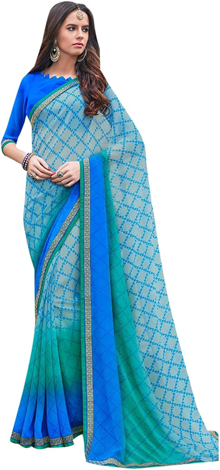 Designer Bollywood Saree Sari Printed Women Latest Indian Ethnic Wedding Collection Blouse Party Wear Festive Ceremony 28113