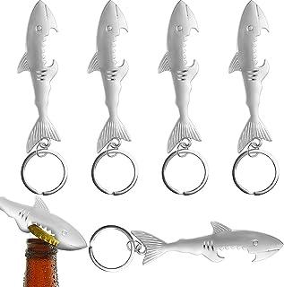 WXJ13 6 Pieces Creatives Shark Style Metal Bottle Opener Keychain Accessories, Bottle Opener Keychain Beer Opener Keychai...