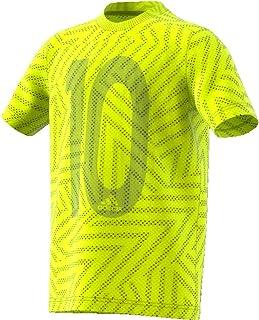 Tee Shirt Messi Football Garçon Vert Adidas