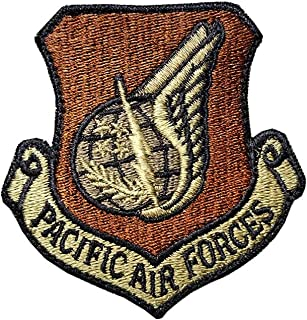 US Air Force Pacific Air Forces (PACAF) OCP Spice Brown Patch with Hook Fastener