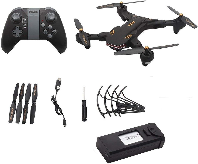 barato HONZIRY XS809S XS809S XS809S 2.4G RC Drone con cámara de 0.3MP 4CH Plegable Mini Quadrocopter Modo sin Cabeza Altitud Sostener WiFi FPV Drone, Negro  moda
