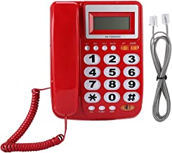 $35 » Corded Phone - Desktop Corded Landline Telephone ABS Big Button Telephone with Answering Machine Caller ID Display with Sp...