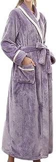 Womens Plush Robes Dressing Gown Soft Full Length Kimono Bathrobe