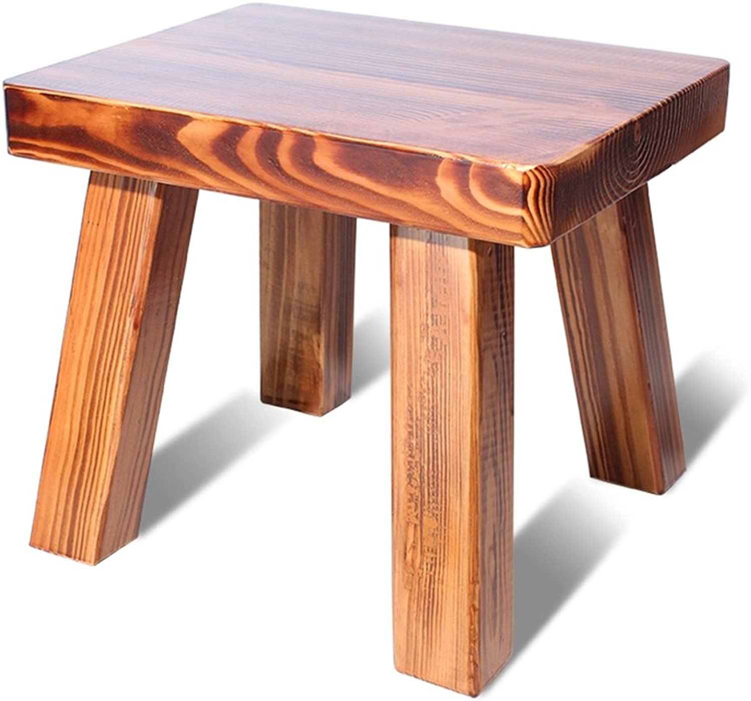 Home stool   simple and fashionable small stool   solid wood shoes stool   adult small stool ( color   A )