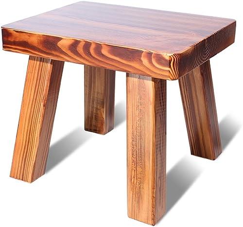 XIAO YING Tabouret de maison petit tabouret simple et à la mode chaussures en bois massif tabouret petit tabouret adulte Tabouret Créatif (Couleur   A)