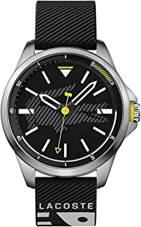 Lacoste Mens Quartz Watch, Analog Display and Rubber Strap 885997247894