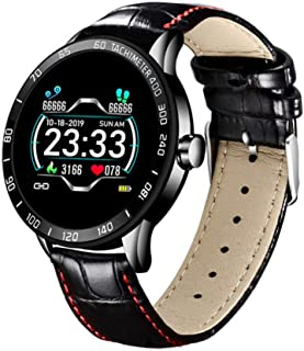 KYLN Reloj de Cuarzo Tradicional Apariencia Relojes Inteligentes Reloj de presión Arterial a Prueba de Agua Monitor Deportivo Reloj Deportivo Reloj Inteligente para Hombres