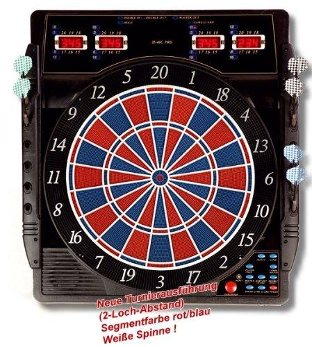 Karella Dartautomat CB-50, elektronische Dartscheibe mit 27 Spielen und 159 Spielvarianten, exakte Turniermaße in 2-Loch-Ausführung, Profigerät