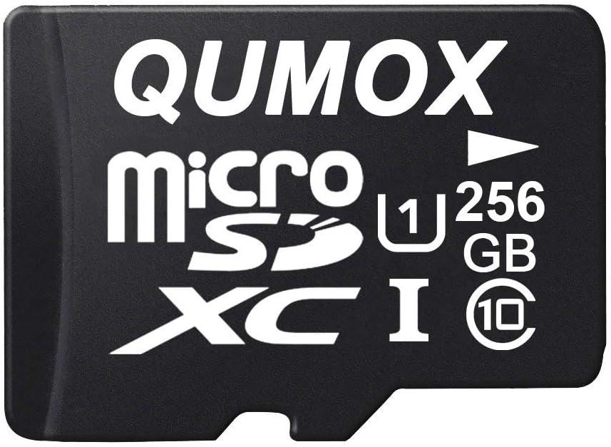 QUMOX 256GB Micro SD Memory Card Class 10 UHS-I 256 GB HighSpeed Write Speed 60MB/S Read Speed Upto 80MB/S