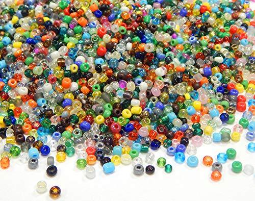 1 Kilo Rocailles Perlen 2mm 3mm 4mm Glasperlen Perlenmischung 6/0 8/0 11/0 Mix Set Kugel Rund Mini Perlen Indianerperlen für Schmuck DIY Armband Halskette Ohrring Zubehör Basteln (2,8~3mm)