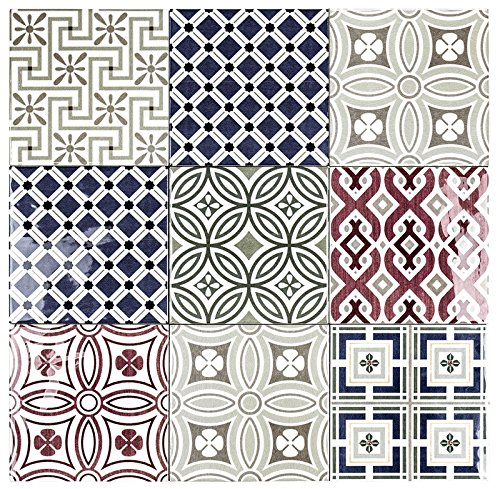 Country Patchwork 5x5 Ceramic Decorative Wall Tile